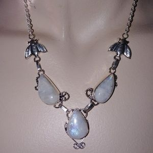 Mystical Natural Moonstone handcrafted necklace